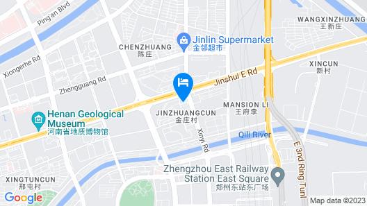 Aloft Zhengzhou Zhengdong New District Map