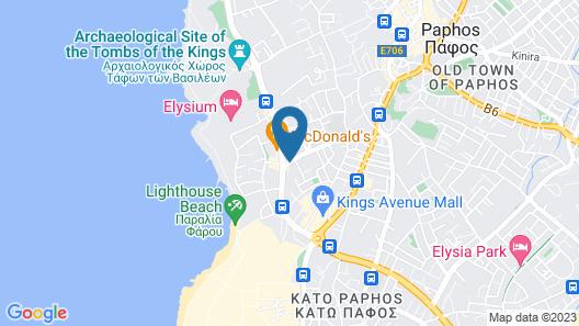 Kefalos - Damon Hotel Apartments Map