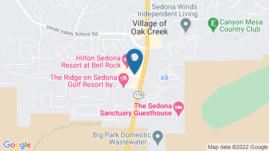 Hilton Sedona Resort at Bell Rock Map