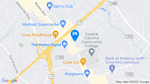 Microtel Inn & Suites by Wyndham Camp Lejeune/Jacksonville Map