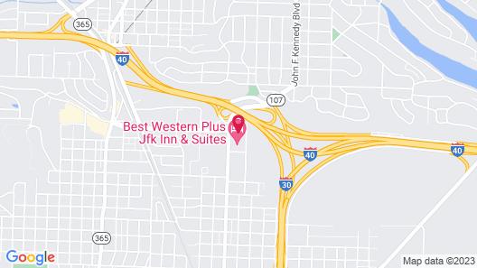 Comfort Inn & Suites North Little Rock JFK Blvd Map