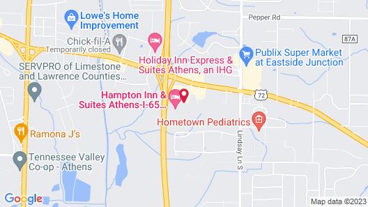 Hampton Inn & Suites Athens I-65 Map