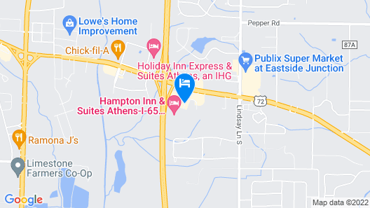 Red Roof Inn & Suites Athens, AL Map