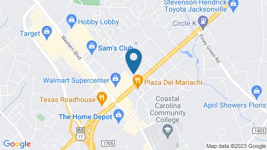 SureStay Plus Hotel by Best Western Jacksonville Map