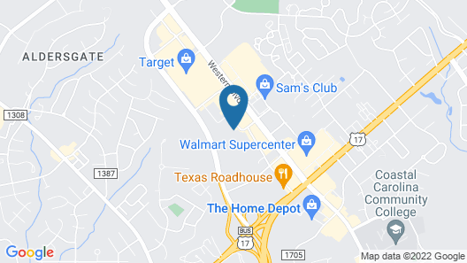 Sleep Inn & Suites Jacksonville near Camp Lejeune Map