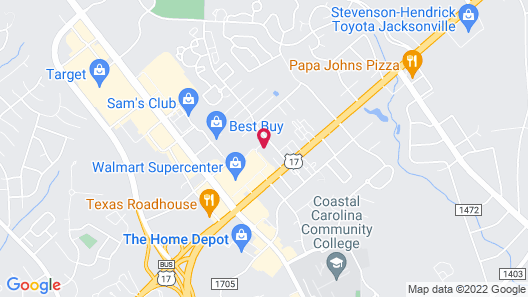 Candlewood Suites Jacksonville, an IHG Hotel Map
