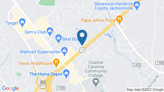 Rodeway Inn & Suites Jacksonville near Camp Lejeune Map