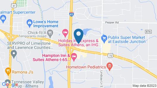 Quality Inn Athens Map