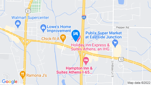 Holiday Inn Express Hotel & Suites Athens Map