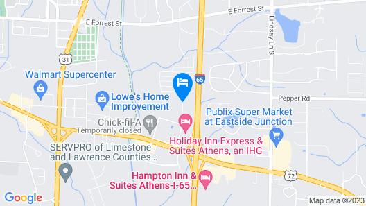 Fairfield Inn & Suites Athens Map