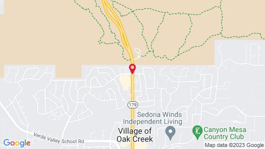 Wildflower Inn at Bellrock Map