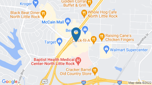 Motel 6 North Little Rock, AR - McCain Map