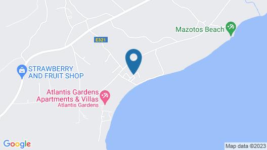 Mazotos Villa Iris Map