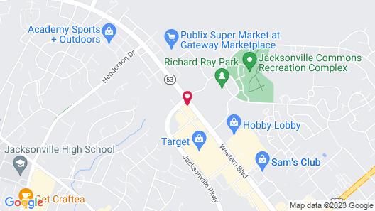 Hampton Inn & Suites Jacksonville, NC Map