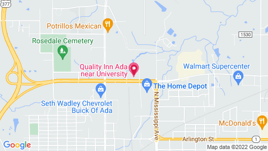 Quality Inn Ada near University Map