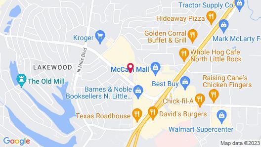 Hampton Inn North Little Rock McCain Mall Map