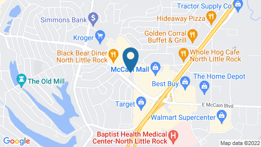 Hampton Inn North Little Rock McCain Mall Map