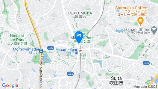 MINAMISENRI Crystal Hotel Map