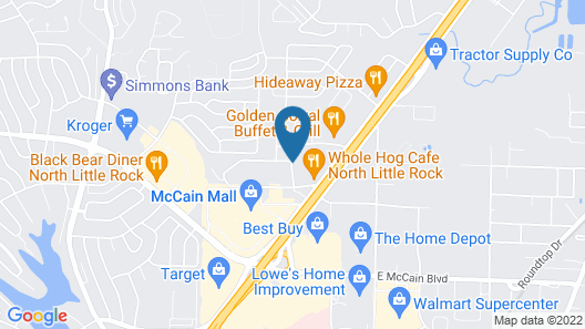 Comfort Inn & Suites North Little Rock McCain Mall Map