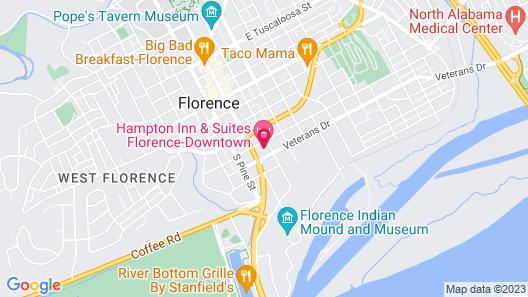 Hampton Inn & Suites Florence-Downtown Map