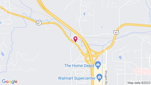 Suburban Extended Stay Hotel Dalton I-75 Map