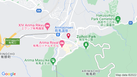 Arima Kirari (Previously Arima View Hotel Urara) Map