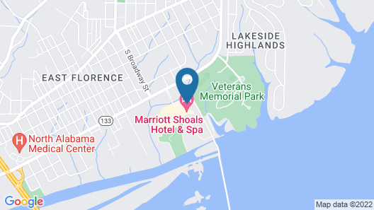 Marriott Shoals Hotel And Spa Map