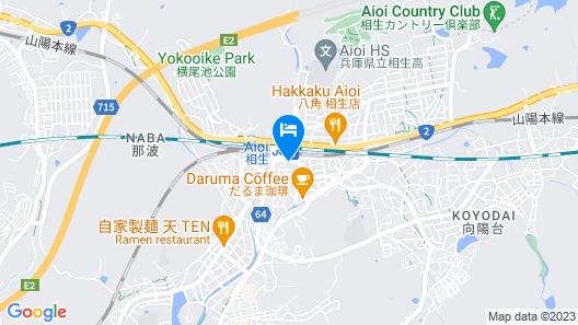 Toyoko Inn Aioi-eki Shinkansen-guchi Map