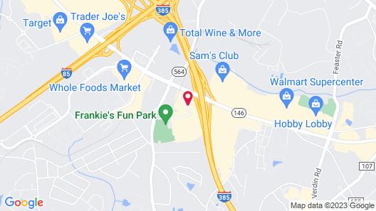 Hampton Inn Greenville I-385 Woodruff Rd. Map
