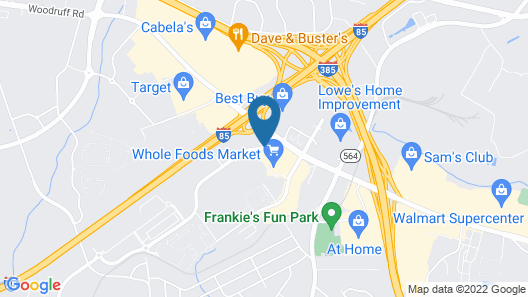 Homewood Suites by Hilton Greenville Map