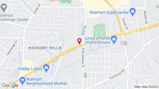 Hampton Inn Florence Midtown Map
