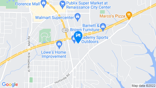 Quality Inn Florence Muscle Shoals Map