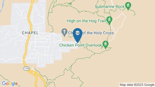 Chic Sedona Studio on Chapel Trail W/radiant Views Map