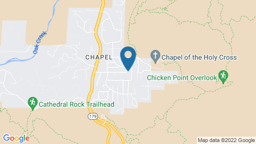 Charmer by the Chapel SPA and Fire PIT Map