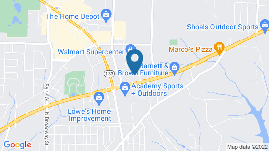 Comfort Suites Florence Shoals Area Map