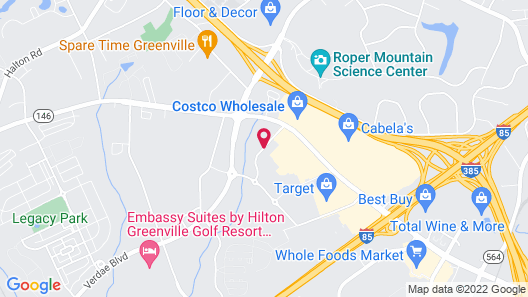 My Place Hotel-Greenville, SC Map