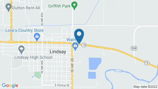 Best Western Lindsay Inn & Suites Map
