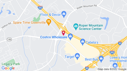 Extended Stay America Premier Suites Greenville Woodruff Rd Map