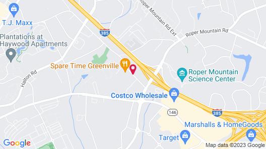 Best Western Plus Greenville I-385 Inn & Suites Map
