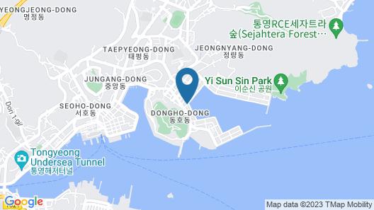 Tongyeong Anchovy tourist Hotel Map