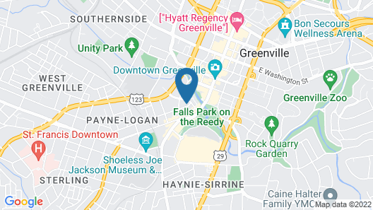 Mint House Downtown Greenville Map