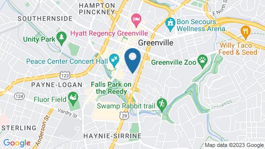 Hyatt Place Greenville/Downtown Map