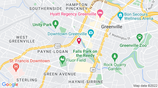 Embassy Suites by Hilton Greenville Downtown Riverplace Map