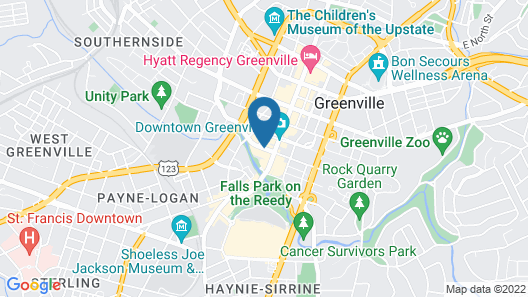 Courtyard by Marriott Greenville Downtown Map