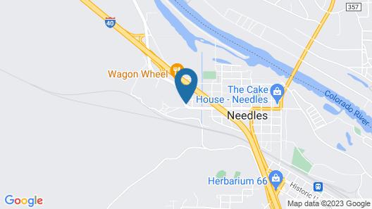 Red Roof Inn Needles Map
