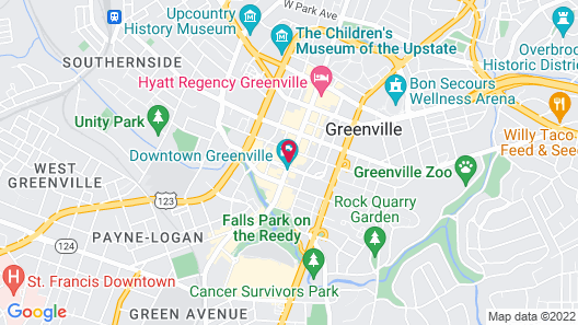 The Westin Poinsett Greenville Map