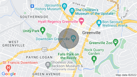 Loft in the Heart of Downtown Greenville Map