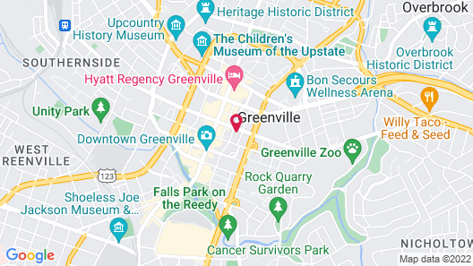 SpringHill Suites by Marriott Greenville Downtown Map