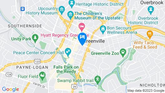 Residence Inn by Marriott Greenville Downtown Map