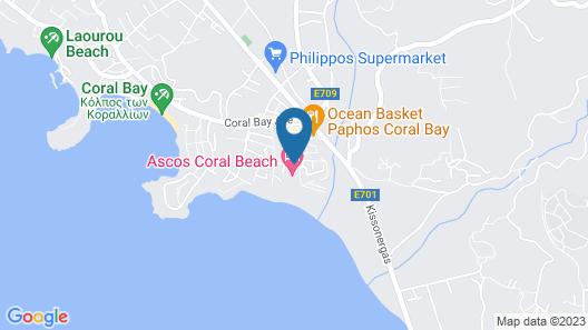 Ascos Coral Beach Hotel Map